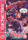Awesome Possum Kicks Dr. Machino's Butt  - Cover Art Sega Genesis
