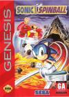 Sonic the Hedgehog: Spinball - Cover Art Sega Genesis