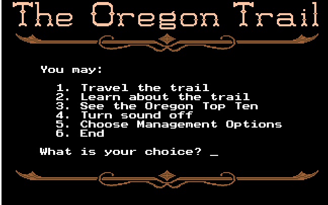 Image result for oregon trail dos